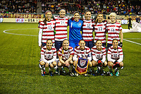 USWNT in action. USWNT won 5-0 in a friendly against Ireland at JELD-WEN Field in Portland, Oregon on November 28, 2012.