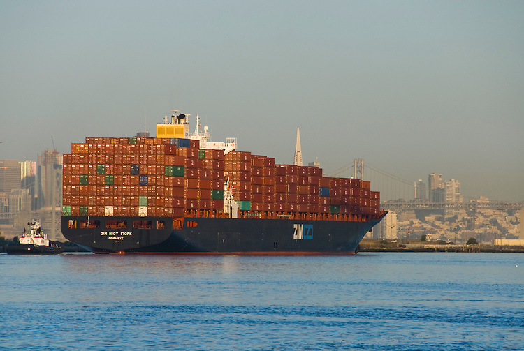 California: Container shipping at Port of Oakland. Photo copyright Lee Foster. Photo # casanf78966