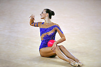 Joanna Mitrosz of Poland performs with ball during event finals at 2010 Holon Grand Prix at Holon, Israel on September 4, 2010.  (Photo by Tom Theobald).