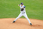 Mississippi's Trent Rothlin pitches vs. Louisville at Oxford-University Stadium in Oxford, Miss. on Sunday, March 14, 2010. Louisville won 10-8.