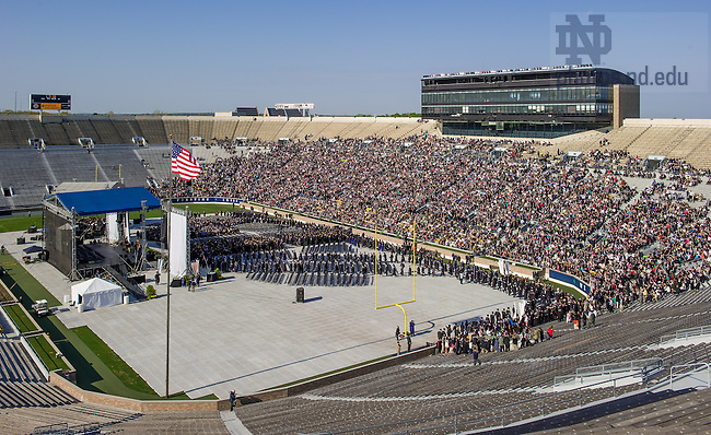 May 18, 2014; 2014 Commencement ceremony in Notre Dame Stadium.<br /> <br /> Photo by Matt Cashore/University of Notre Dame