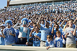 08 November 2008: UNC fans. The University of North Carolina Tarheels defeated the Georgia Tech University Yellow Jackets 28-7 at Kenan Stadium in Chapel Hill, NC in an NCAA Division I and Atlantic Coast Conference football game.