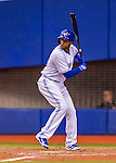 2 April 2016: The Toronto Blue Jays infielder Richard Urena in action during a pre-season exhibition game against the Boston Red Sox at Olympic Stadium in Montreal, Quebec, Canada. The Red Sox defeated the Blue Jays 7-4 in the second of two MLB weekend games, which saw a two-game series attendance of 106,102 at the former home on the Montreal Expos. Mandatory Credit: Ed Wolfstein Photo *** RAW (NEF) Image File Available ***