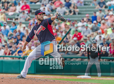 19 March 2015: Atlanta Braves pitcher Cody Martin on the mound during a Spring Training game against the Miami Marlins at Champion Stadium in the ESPN Wide World of Sports Complex in Kissimmee, Florida. The Braves defeated the Marlins 6-3 in Grapefruit League play. Mandatory Credit: Ed Wolfstein Photo *** RAW (NEF) Image File Available ***