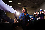 Condoleeza Rice arrives at a campaign rally for Republican vice presidential candidate Rep. Paul Ryan at Baldwin Wallace University in Berea, Ohio, October 17, 2012.