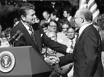 President Ronald Reagan with Prime Minister Mechachem Begin, Hebrew, Irgun, mainsream Jewish, Haganah, Peace Treaty with Egypt in 1979, Anwar Sadat, Nobel Prize for Peace, Camp David Accords, Israel Defense Forces, Sinai Peninsula, Six Day war,
