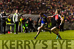 Adrian Spillane Kerry in action against Donal Vaughan Mayo in the National Football league at Austin Stack Park, Tralee on Saturday night.