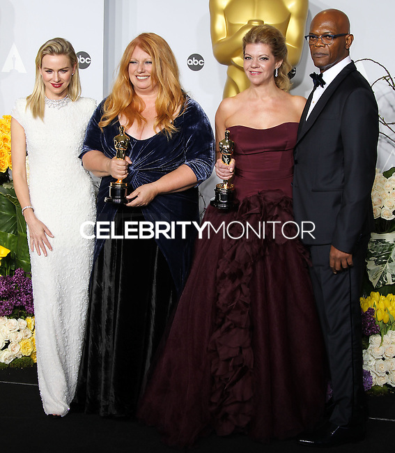 HOLLYWOOD, LOS ANGELES, CA, USA - MARCH 02: Naomi Watts, Adruitha Lee, Robin Mathews, Samuel L. Jackson at the 86th Annual Academy Awards - Press Room held at Dolby Theatre on March 2, 2014 in Hollywood, Los Angeles, California, United States. (Photo by Xavier Collin/Celebrity Monitor)