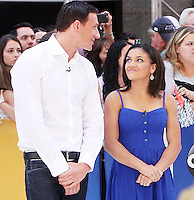 NEW YORK, NY-August 29: Ryan Lochte, Laurie Hernandez, at Good Morning America to talk about new season of Dancing with the Stars in New York. August 29, 2016. Credit:RW/MediaPunch