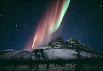 The aurora borealis flares above the Brooks Range
