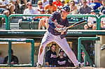 21 March 2015: Atlanta Braves infielder Kelly Johnson in action during a Split Squad Spring Training game against the Washington Nationals at Champion Stadium at the ESPN Wide World of Sports Complex in Kissimmee, Florida. The Braves defeated the Nationals 5-2 in Grapefruit League play. Mandatory Credit: Ed Wolfstein Photo *** RAW (NEF) Image File Available ***