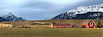 Barns near Joseph , Oregon near the Wallowa Mountains and the Eagle Cap Wilderness