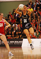 Casey Williams takes a pass during the New World International Netball Series between the NZ Silver Ferns and England at Arena Manawatu, Palmerston North, New Zealand on Wednesday, 18 October 2008. Photo: Dave Lintott / lintottphoto.co.nz