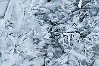 &quot;RIVER ICE-2&quot;<br /> <br /> Ice formations along a river's edge creating intricate and beautiful designs