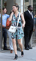NEW YORK, NY-July 06: Sutton Foster, shooting for the new season of  TV LAND Younger in New York. NY July 06, 2016. Credit:RW/MediaPunch