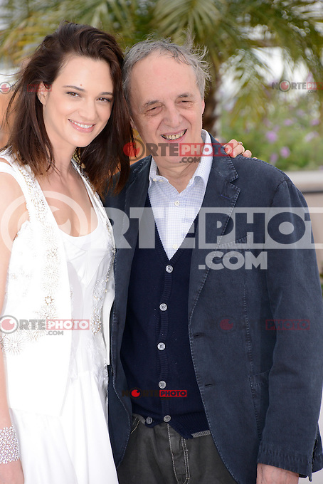 """Asia Argento and Dario Argento attending the """"Dario Argento Dracula"""" Photocall during the 65th annual International Cannes Film Festival in Cannes, France, 19th May 2012...Credit: Timm/face to face /MediaPunch Inc. ***FOR USA ONLY***"""