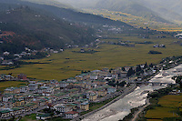 A view of Paro city by the side of Paro chu(river). Arindam Mukherjee..
