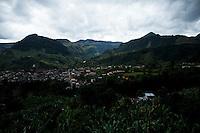 General view of the town of Jardin in Antioquia August 1, 2012. Photo by Eduardo Munoz Alvarez / VIEW.