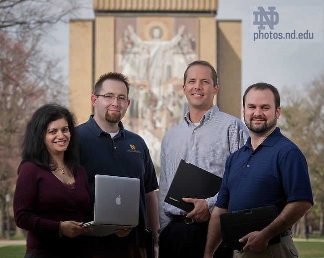 Apr. 15, 2013; Office of Information Technology ad..Photo by Matt Cashore/University of Notre Dame