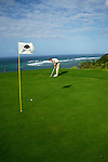Sports: Golf: HI, Kauai, Hawaii, Princeville, model released   .Photo Copyright: Lee Foster, lee@fostertravel.com, www.fostertravel.com,  (510) 549-2202.Image sports207