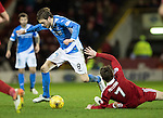 Aberdeen v St Johnstone&hellip;10.12.16     Pittodrie    SPFL<br />Murray Davidson is fouled by Kenny McLean<br />Picture by Graeme Hart.<br />Copyright Perthshire Picture Agency<br />Tel: 01738 623350  Mobile: 07990 594431