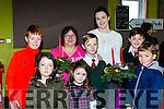 Josh Vermigmilo, Ali Dicker, Millie Brosnan, Rian Brosnan, Jack Dicker, Jack Brosnan with Sheila and Mairead McKeown at the Firies Christmas Craft fair on Sunday