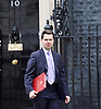 Cabinet Meeting <br /> 10 Downing Street London, Great Britain <br /> 29th March 2017 <br /> <br /> departures following the final cabinet meeting before Article 50 is triggered in Parliament today.<br /> <br /> James Brokenshire, the Northern Ireland Secretary<br /> <br /> <br /> Photograph by Elliott Franks <br /> Image licensed to Elliott Franks Photography Services