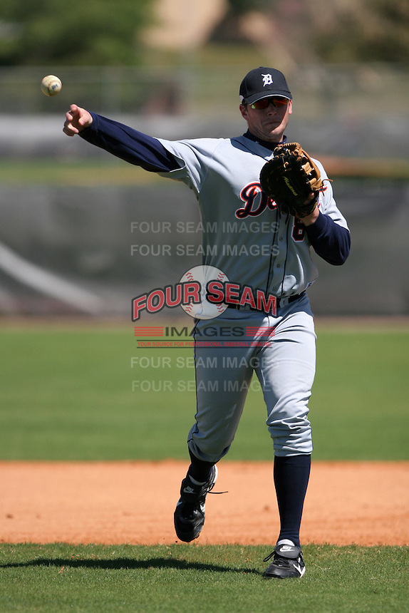 Detroit Tigers minor leaguer Chris Carlson during Spring Training at the Chain of Lakes Complex on March 17, 2007 in Winter Haven, Florida.  (Mike Janes/Four Seam Images)