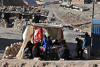 Miners taking a break at the Cerro Rico silver mine, Potosi, Bolivia