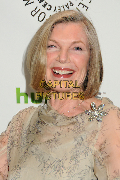 "Susan Sullivan.PaleyFest 2012 Presents ""Castle"" held at The Saban Theatre, Beverly Hills, California, USA, 9th March 2012..portrait headshot grey gray print smiling sheer  cream beige print .CAP/ADM/BP.©Byron Purvis/AdMedia/Capital Pictures."