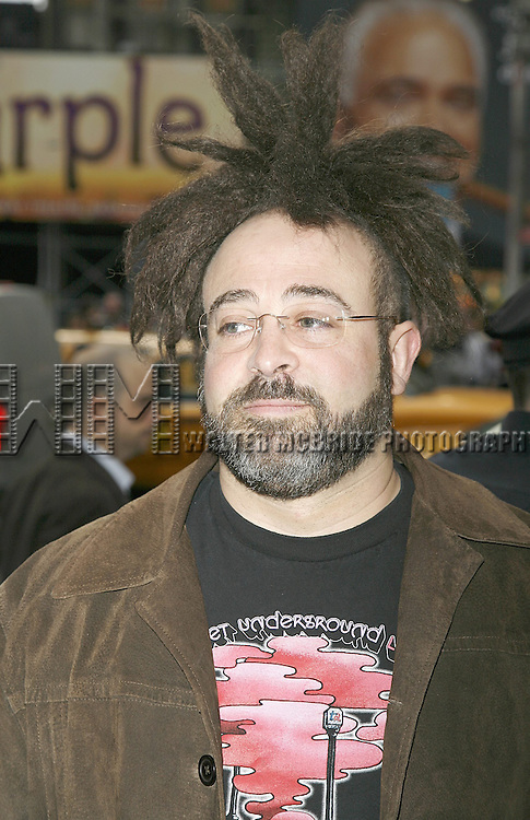 Adam Duritz (Counting Crows) attending the Opening Night of Warner Bros. Theatre Ventures' Inaugural production of LESTAT at the Palace Theatre with an after party at Time Warner Center in New York City. April 25, 2006.© Walter McBride/WM Photography