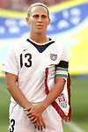 16 June 2007: United States captain Kristine Lilly, pregame. The United States Women's National Team defeated the Women's National Team of China 2-0 at Cleveland Browns Stadium in Cleveland, Ohio in an international friendly game.