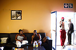 SOWETO, SOUTH AFRICA DECEMBER 10: Up-market ladies chat at The Rock, a bar and nightclub on December 10, 2006 in Soweto, Johannesburg, South Africa. Because for the increasing incomes in the township, some up-market bars and restaurants has opened in the township. Soweto is South Africa?s largest township and it was founded about one hundred years to make housing available for black people south west of downtown Johannesburg. The estimated population is between 2-3 million. Many key events during the Apartheid struggle unfolded here, and the most known is the student uprisings in June 1976, where thousands of students took to the streets to protest after being forced to study the Afrikaans language at school. Soweto today is a mix of old housing and newly constructed townhouses. A new hungry black middle-class is growing steadily. Many residents work in Johannesburg but the last years many shopping malls have been built, and people are starting to spend their money in Soweto.  .(Photo by Per-Anders Pettersson/Getty Images) .