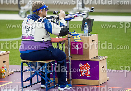 Damjan Pavlin of Slovenia competes in the Men's R5-10m Air Rifle Prone shooting Final during Day 4 of the Summer Paralympic Games London 2012 on September 1, 2012, in Royal Artillery Barracks, London, Great Britain. (Photo by Vid Ponikvar / Sportida.com)