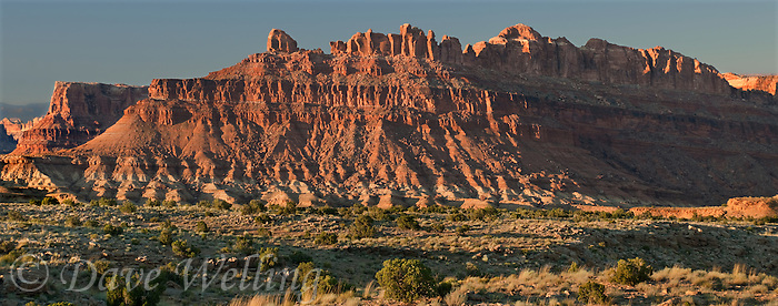 988000021 panorama view of a red rock stepped butte along the san rafael swell in eastern utah united states