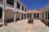 Hotel courtyard in Potosi, Bolivia