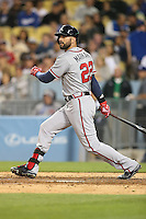 05/26/15 Los Angeles, CA: Atlanta Braves right fielder Nick Markakis #22 during an MLB game played at Dodger Stadium between the Los Angeles Dodgers and the Atlanta Braves. The Dodgers defeated the Braves 8-0.
