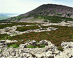 Tre'r  Trer Ceiri Hillfor. Llanaelhaearn, Gwynedd, Wales. Celtic Britain published by Orion. An Iron Age hillfort situated, 1,800 feet up the most eastly of the three peaks that make up Yr Eifl Mountain. Also known as 'The Town of Giants' built proir to the Roman occupation of Wales AD  78 it was occupied for four centiries. The site covers five acres and is comprised of a huge perimiter wall and over 130 hut circles.