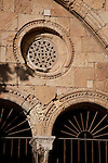Detail on Cloister of Tarragona Cathedral in Catalonia, Spain