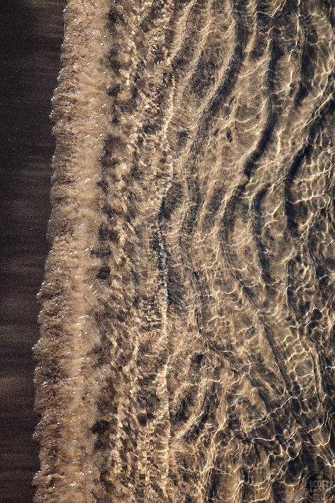 &quot;Lake Tahoe Sand 2&quot; - This sandy shoreline was photographed at Kings Beach, Lake Tahoe.