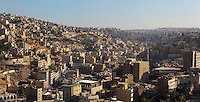 Downtown Amman seen from the Citadel which sits on the highest hill of Amman, Jabal al-Qal'a (about 850m above sea level), Amman, Jordan. Picture by Manuel Cohen