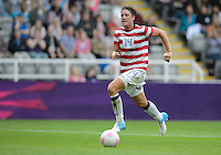 Newcastle, England - Friday, August 3, 2012: The USA women defeated New Zealand 2-0 in the quarterfinal round of the 2012 Olympics at St. James Park.