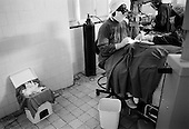 Asmara, Eritrea.November 2002.Birhan Aim Hospital  (Light to the Eye Hospital)..Used surgical material mount in the garbage as Dr. Desbele Ghebreghergis operates on as many as 15 cataract patients a day.