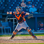 28 February 2017: Houston Astros catcher Tyler Heineman in action during the Spring Training inaugural game against the Washington Nationals at the Ballpark of the Palm Beaches in West Palm Beach, Florida. The Nationals defeated the Astros 4-3 in Grapefruit League play. Mandatory Credit: Ed Wolfstein Photo *** RAW (NEF) Image File Available ***