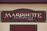 The Marquett Commons public space in Marquette Michigan.