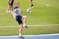 England manager Roy Hodgson controls the ball