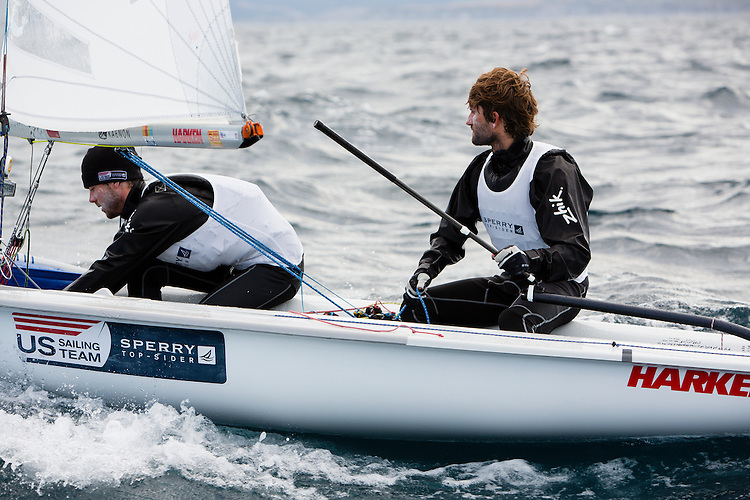 SANTANDER, SPAIN - SEPTEMBER 18:  470 Men - USA1713 - Stu Mcnay / Dave Hughes in action during Day 7 of the 2014 ISAF Sailing World Championships on September 18, 2014 in Santander, Spain.  (Photo by MickAnderson/SAILINGPIX via Getty Images)