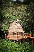 Treeline hut, Ngaga Camp, Odzala-Kokoua National Park.