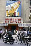 Rush hour traffic in Hanoi, North Vietnam.  (Jim Bryant Photo)...