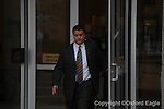 FBI agent Hal Neilson leaves federal court after being arraigned on Monday, February 1, 2010 in Oxford, Miss.